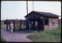 Majdanek Concentration Camp : Entry building to new barracks area