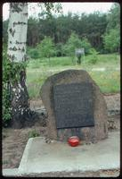Chelmno Concentration Camp : Commemorative plaque to children along the axis walk