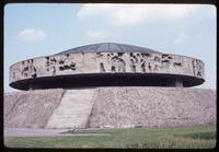 Majdanek Concentration Camp : Close-up view of ashes memorial structure