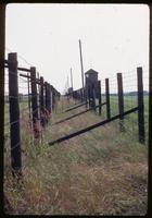 Majdanek Concentration Camp : Camp perimeter showing fencing and guard towers