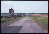 Majdanek Concentration Camp : Road linking main camp memorial and ashes memorial