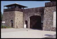 Mauthausen Concentration Camp : Rebuilt main entry gate to the camp