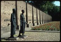 Ravensbrück Concentration Camp : View From Inmate Sculpture and commemorative wall
