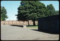 Ravensbrück Concentration Camp : View from the inscription plaque to the commemoration wall