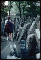 Pinkas Synagogue (Prague, Czech Republic) : Tourist group viewing cemetery