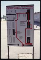 Mauthausen Concentration Camp : Sign at main barracks gate area