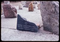 Treblinka Concentration Camp : Private family commemoration within cosmic swirl of stones