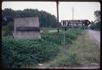 Treblinka Concentration Camp : Road sign identifying Treblinka camp site