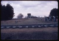 Treblinka Concentration Camp : View from train platform on camp site to main site memorial