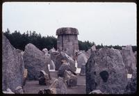 "Treblinka Concentration Camp : View to the main memorial from the ""Satellite of Stones"""