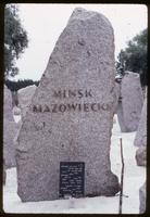 Treblinka Concentration Camp : Commemoration to the Jews of Minsk Mazowiecki