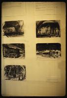 Dora Concentration Camp : Inmate sketches of cave and V2 rocket construction