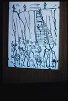 Mauthausen Concentration Camp : Inmate sketch of the Mauthausen quarry steps