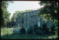 House of the Wannsee Conference Memorial (Berlin, Germany) : Rear view of the Villa from the back lawn area