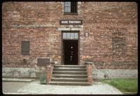 Auschwitz Concentration Camp : Entry to Barracks #11; infamous block used for prisoner             interrogation