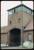 Birkenau Concentration Camp : On-site view of main rail entry point and administrative offices