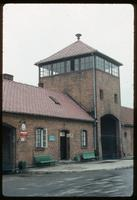 Birkenau Concentration Camp : View of rail entry point carrying inmates to gas chambers or             barracks