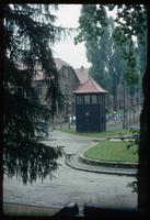 Auschwitz Concentration Camp : View of same guard tower from off-site