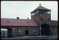 Birkenau Concentration Camp : Diagonal view of rail entry point to Birkenau