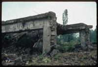 Birkenau Concentration Camp : Close-up of crematorium K-2 showing condition and construction