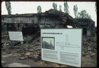 Birkenau Concentration Camp : Close-up of crematorium K-2 in Birkenau, B1