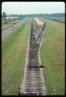 Birkenau Concentration Camp : View of disembarcation siding and platform from same guard tower