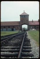 Birkenau Concentration Camp : View along rail tracks from disembarcation platform to entry gate