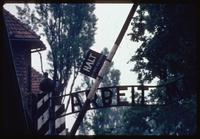 Auschwitz Concentration Camp : Close-up of Auschwitz Camp 1 entry gate