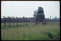 Birkenau Concentration Camp : Camp B1 guard tower and fence taken in 1979