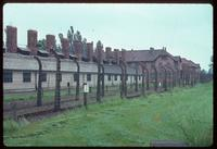 Auschwitz Concentration Camp : Electrified fencing and barracks at Auschwitz Camp 1