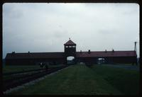 Birkenau Concentration Camp : Rear view of gate buildings