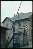 Auschwitz Concentration Camp : Main entry gate at Auschwitz Camp 1