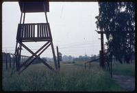 Birkenau Concentration Camp : Entry gate to camp B1 near the disembarcation platform (1979)