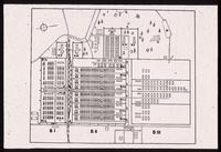 Birkenau Concentration Camp : Site plan of Camp 2, Birkenau, with main gate between areas B1-B2
