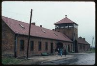 Birkenau Concentration Camp : Administrative offices and guard tower at main rail gate