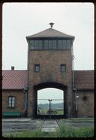Birkenau Concentration Camp : View through rail entry point along rail siding tracks