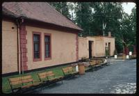 Theresienstadt Concentration Camp : Seating at fortress/camp entry office