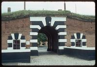 Theresienstadt Concentration Camp : Close-up of main entry gate