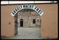 Theresienstadt Concentration Camp : Close-up of barracks entry gate