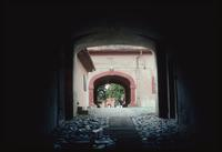 Theresienstadt Concentration Camp : Block IV entry arch