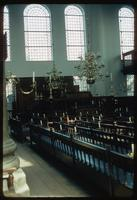 Portuguese Synagogue (Amsterdam, Netherlands) : Interior wall and window details of Synagogue