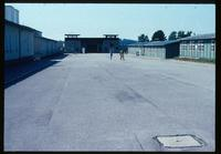 Mauthausen Concentration Camp : View back to the entry gate from the barracks