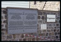 Mauthausen Concentration Camp : Memorial plaque to Soviet General Karbischew
