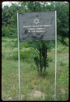 Chelmno Concentration Camp : Entry sign commemorating Jewish victims