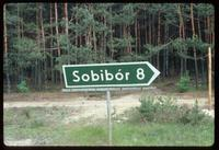 Sobibór Concentration Camp : Road sign to Sobibor