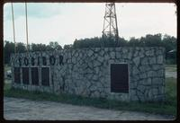 Sobibór Concentration Camp : Memorial wall at the camp entry