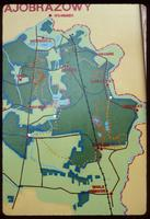 Sobibór Concentration Camp : Close-up of regional map