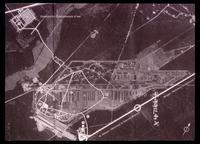 Bergen-Belsen Concentration Camp : Bergen-Belsen camp site as seen on aerial photograph
