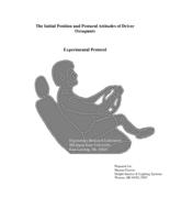 The initial position and postural attitudes of driver occupants : experimental protocol