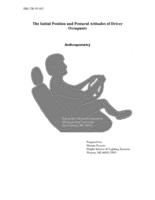 The initial position and postural attitudes of driver occupants : anthropometry